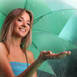 beauty girl in rain