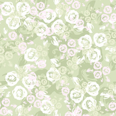 Seamless pattern with roses. Vector illustration.