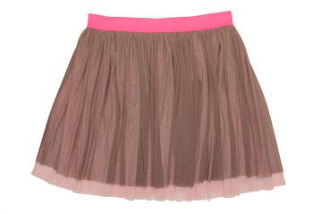 pleated caprone skirt
