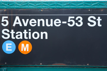 Subway Station sign.New York City (USA)