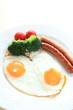 sunny side up egg and sausage for gourmet breakfast