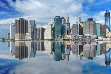 Lower Manhattan reflection