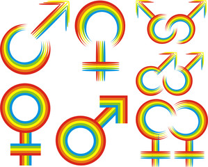 gender - gay or lesbian symbol
