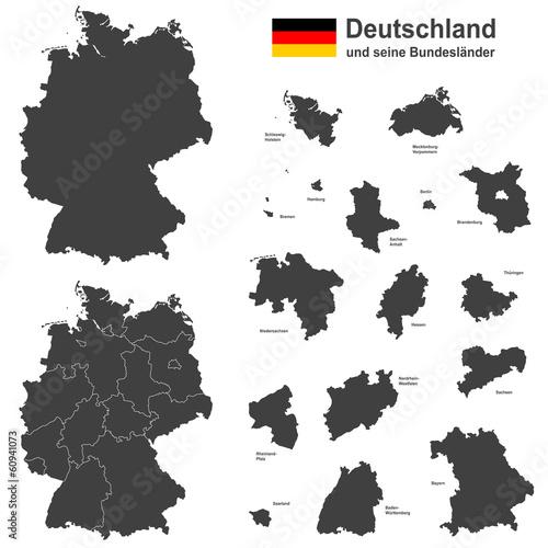 Deutschland und seine Bundesländer - 60941073