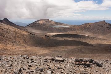 volcanic landscape in Tongariro National Park