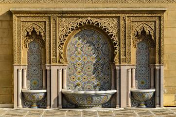 Brunnen in Rabat, Marokko