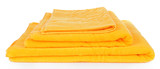 Yellow towels isolated on white