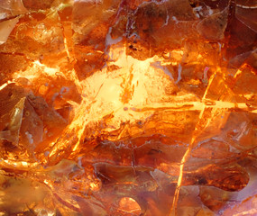 Beautiful natural Baltic amber in bright colors
