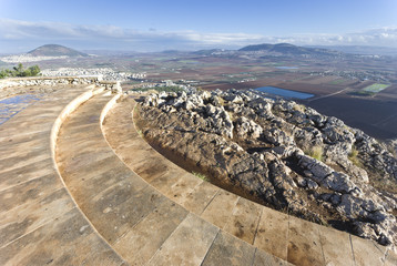 view from mount Precipice, Nazareth, Israel