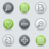Image viewer web icons set 1, circle buttons