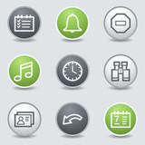 Organizer web icons, circle buttons
