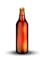 glass bottle  with the carbonated drink