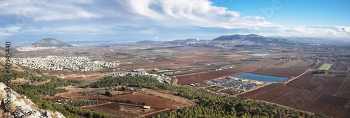 view of the Jezreel Valley, lower Galilee, Israel
