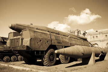 old russian SCUD missile launcer