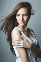 Portrait jeune femme mode