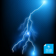Blue Vector Lightning Bolt