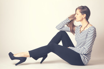 Jeune femme mode
