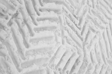 tyre mark on snow