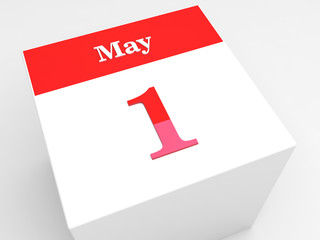 1 May Day. Calendar icon