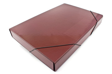Red  portfolio folder  isolated on a white