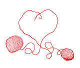 Knitting Heart