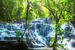 Leinwanddruck Bild - Waterfall in Mexico