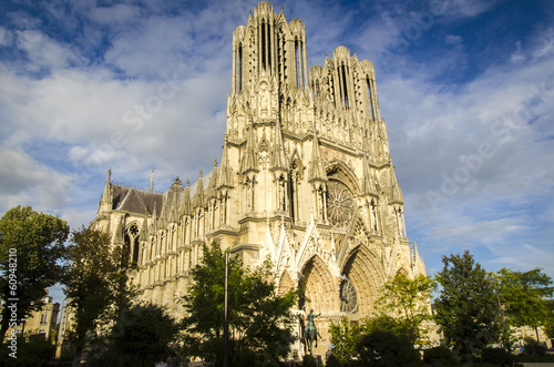 Foto op Aluminium Bedehuis Kathedrale von Reims, Frankreich