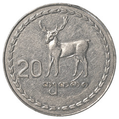 20 Georgian tetri coin