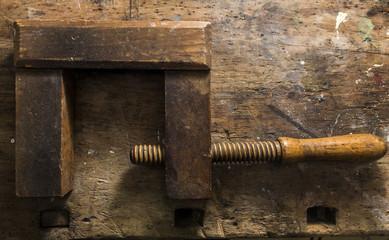 olc clamp on wood backgroun