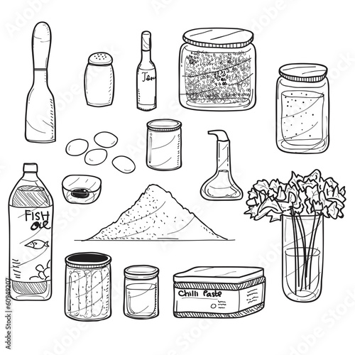 Spicy and Herbs at Kitchen Drawing
