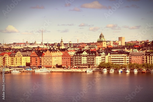 Stockholm, Sweden - cross processing retro color tone