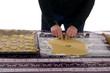 Backblech mit ausgestochenen Plätzchen