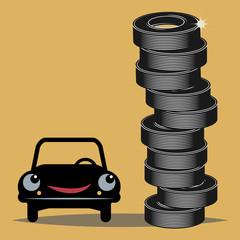 Tires, vector illustration