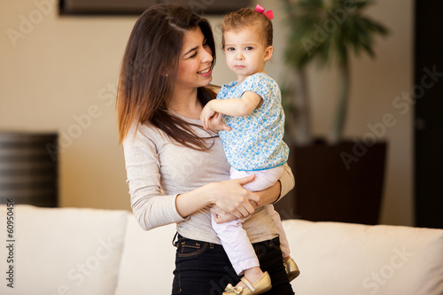 Beautiful mom and her daughter
