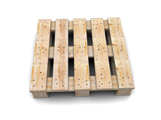 Wooden pallet. Top view.