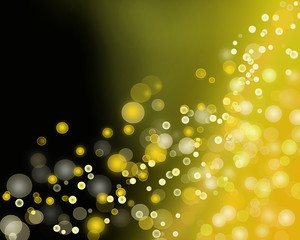 Gold colour bokeh abstract light background