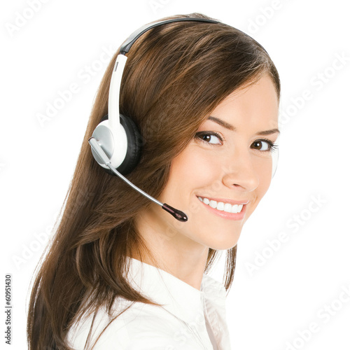 Customer support phone operator, isolated