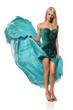 Woman in Emerald Dress