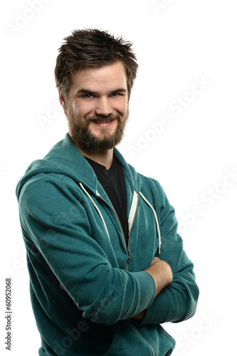 Portrait of Bearded Man Smiling