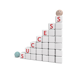 success - 3d abstract composition