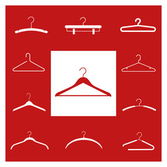 clothes hangers silhouettes