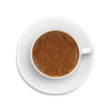 espresso coffee isolated on white background