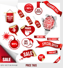 ps Vector image:PRICE TAGS