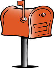 Hand-drawn Vector illustration of an Mailbox