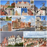 Gdansk, Poland photos collage