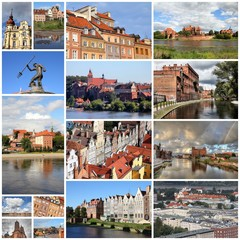 Poland photos collage