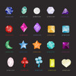 Jewelry Icons Set - Isolated On Black Background