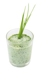 Green smoothie diet isolated