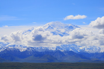 mount mckinley e nuvole in alaska