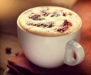 Cappuccino. Cup of Latte Coffee